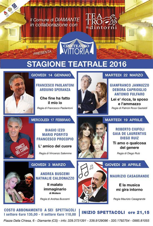 stagione teatrale cinema vittoria diamante